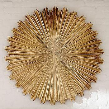 Art/Wall Decor - Arabella Medallion Art | Pottery Barn - medallion wall art, medallion wall decor, antiqued brass medallion art, round brass wall sculpture,