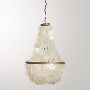 Lighting - Aldridge Capiz Chandelier | Pottery Barn - capiz chandelier, capiz shell chandelier,