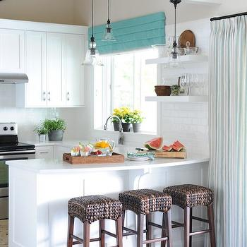 Curved Countertop, Cottage, kitchen, Benjamin Moore Simply White, Maria Killam Interior Design