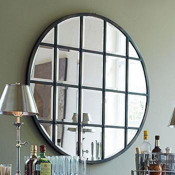 Mirrors - Eagan Multipanel Round Mirror | Pottery Barn - round paneled mirror, round paned mirror, round multipanel mirror,