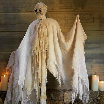 Miscellaneous - Mummy Ghost | Pottery Barn - ghost halloween decor, hanging ghost halloween decor, hanging ghost decor, mummy ghost hanging decor,