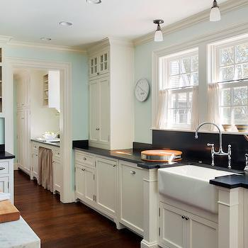Ivory Kitchen Cabinets, Country, kitchen, Benjamin Moore Ivory White, Patrick Ahearn Architecture