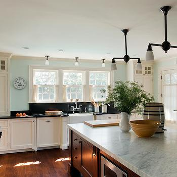 Carrera Countertop, Country, kitchen, Benjamin Moore Ivory White, Patrick Ahearn Architecture