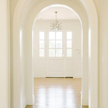 Arched Doorways, Transitional, entrance/foyer, Benjamin Moore Simply White, Tiek Built Homes