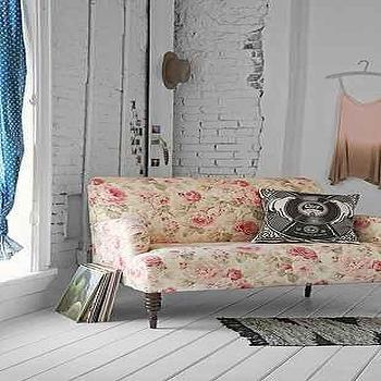 Seating - Tessa Loveseat I Urban Outfitters - pink rose print loveseat, rose patterned loveseat, faded rose loveseat,