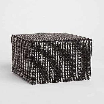 Seating - Saunder Mud Cloth Ottoman I Urban Outfitters - black and white cube ottoman, mud cloth ottoman, black cube ottoman,