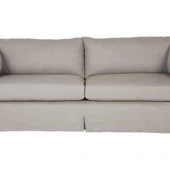 Seating - Harrington Sofa | Jayson Home - gray linen sofa, slipcovered gray sofa, contemporary gray sofa,