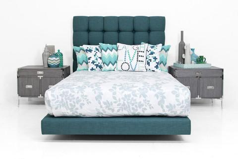 Delano Bed In Emerald Linen Modshop