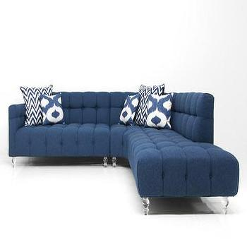 Monaco Sectional in Navy Linen, ModShop