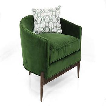 Seating - Art Deco Chair in Emerald Velvet | ModShop - emerald green chair, green velvet chair, art deco velvet chair, emerald green velvet chair,