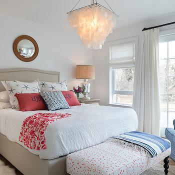 Williams Sonoma Home Sutton Bed, Cottage, bedroom, Benjamin Moore Chantilly Lace, Kate Jackson Design