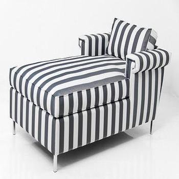 Seating - Sinatra Outdoor Chaise Lounge | ModShop - outdoor chaise lounge, striped outdoor chaise lounge, upholstered outdoor chaise lounge,