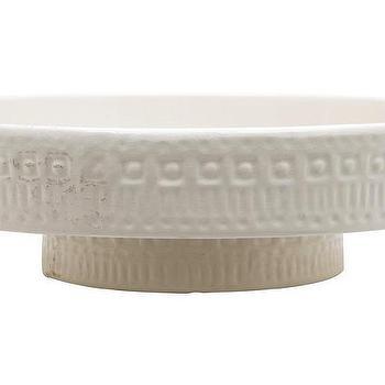 Decor/Accessories - Clement Pedestal | Jayson Home - ceramic pedestal, white cake pedestal, white ceramic pedestal, ceramic cake pedestal,