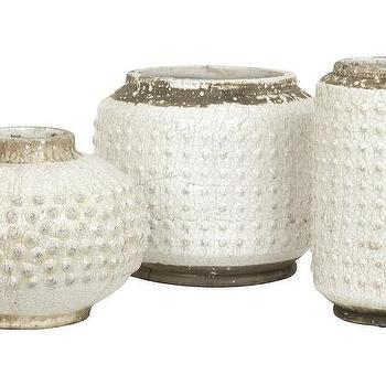 Decor/Accessories - Wyatt Ceramic Collection | Jayson Home - crackled glaze vase, crackled white vase, crackled ceramic vase,
