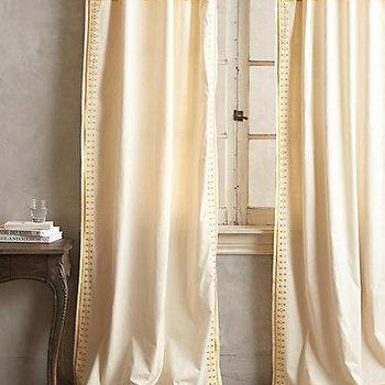 Window Treatments - Embroidered Aravalli Curtain I anthropologie.com - yellow embroidered drapes, yellow embroidered curtains, yellow and ivory curtains,