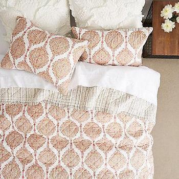Bedding - Kutch Quilt I anthropologie.com - john robshaw bedding, john robshaw quilt, indian block print bedding, indian block print quilt, orange block print quilt,