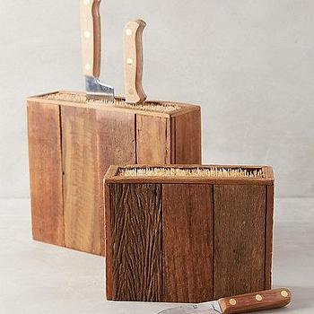 Decor/Accessories - Bamboo Knife Block I anthropologie.com - bamboo knife block, reclaimed knife block, bamboo knife holder, wood and bamboo knife block,
