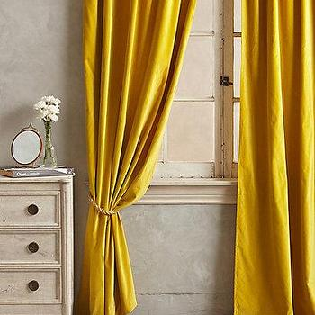 Wallpaper - Firenze Velvet Tassel Curtain I anthropologie.com - yellow velvet drapes, mustard yellow velvet drapes, yellow velvet tassel drapes, tassel trimmed velvet drapes, tassel trimmed velvet curtains,