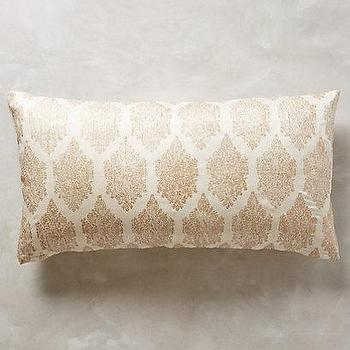 Pillows - Bara Pillow I anthropologie.com - hand blocked pillow, hand blocked lumbar pillow, hand blocked silk pillow, duponi silk hand block pillow,