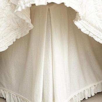 Bedding - Rivulets Bedskirt I anthropologie.com - ruffle trimmed bedskirt, ruffled trim bedskirt, ivory ruffled bedskirt,
