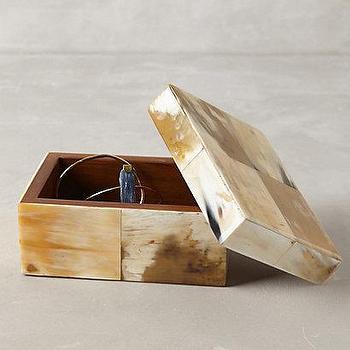 Decor/Accessories - Sahara Jewelry Box I anthropologie.com - horn jewelry box, natural horn jewelry box, horn trinket box, decorative horn box,