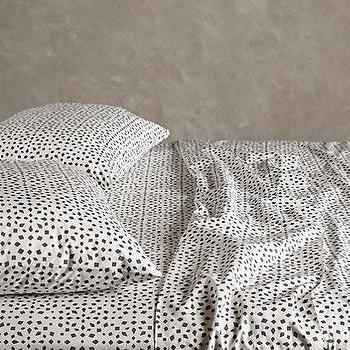Bedding - Bahia Sheet Set I anthropologie.com - black and white mosaic bedding, black and white mosaic sheets, black and white mosaic bed linens,