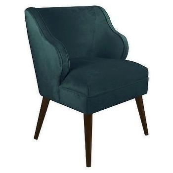 Seating - Skyline Accent Chair - Mystere Peacock I Target - teal green accent chair, teal mid century chair, mid century modern chair, teal green chair,