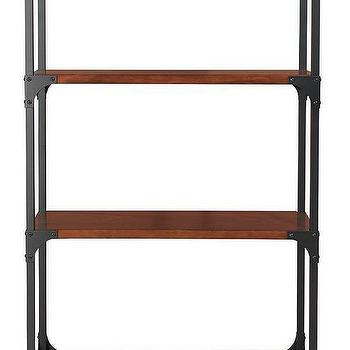 Storage Furniture - Industrial Empire Bookcase | HomeDecorators.com - industrial bookcase, bookcase on casters, bookcase on castors, industrial bookcase on wheels,