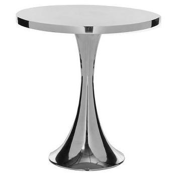 Tables - Safavieh Accent Table - Silver I Target - polished aluminum side table, polished aluminum accent table, hour glass side table, hourglass shaped accent table,