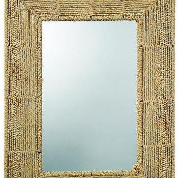 Mirrors - Isis Jute Mirror | HomeDecorators.com - jute mirror, woven jute mirror, rectangular jute mirror,