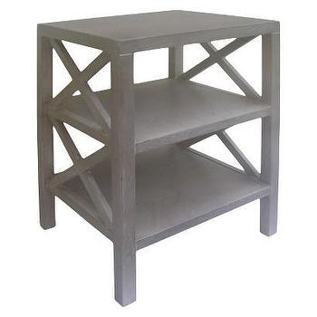 Tables - Threshold X Accent Table - Gray Wash I Target - gray wash accent table, gray wash side table, x sided accent table,