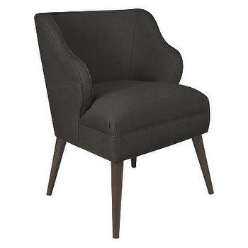 Seating - Skyline Accent Chair - Renegade Charcoal I Target - charcoal gray accent chair, mid century gray chair, mid century modern chair, charcoal gray mid century chair,