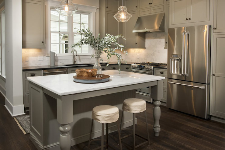 Khaki Cabinets Transitional Kitchen Palmetto Bluff