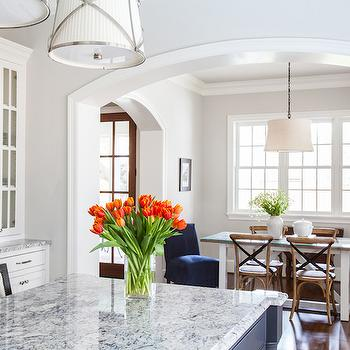 Gray Granite Countertops, Transitional, kitchen, Marie Flanigan Interiors