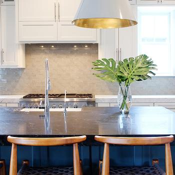 Grey Subway Tiles, Transitional, kitchen, Marie Flanigan Interiors