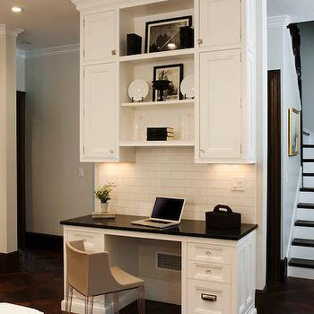 Kitchen Desk Ideas, Transitional, kitchen, Crown Point Cabinetry