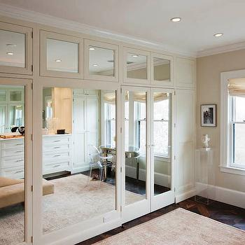 Mirrored Wardrobes, Transitional, closet, Crown Point Cabinetry