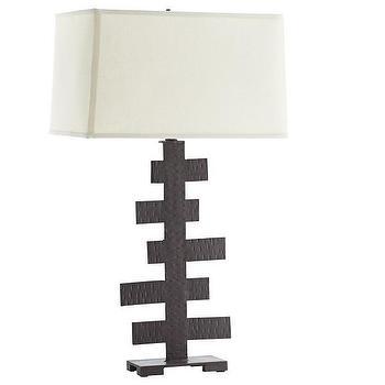 Lighting - Multi-Bar Table Lamp I Wisteria - hammered metal lamp, sculptural metal lamp, hammered iron lamp, sculptural iron lamp,