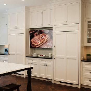 Kitchen TV Ideas, Transitional, kitchen, Crown Point Cabinetry