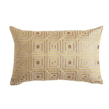 Pillows - Art Deco Pillow Cover - Cubism I Wisteria - art deco style pillow, geometric art deco pillow, gold geometric embroidered pillow,