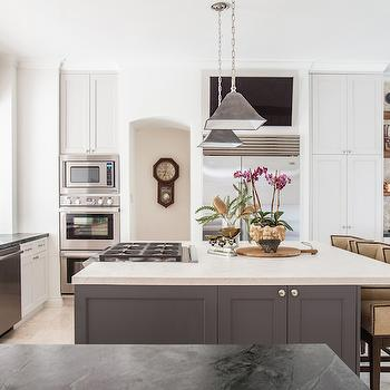 Cooktop on Island, Transitional, kitchen, Marie Flanigan Interiors