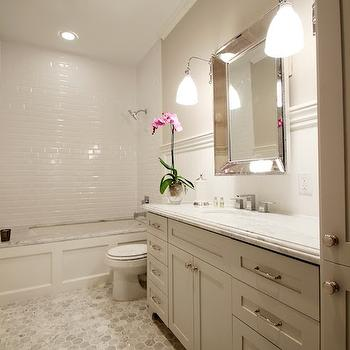 Wainscoted Tub, Transitional, bathroom, Marie Flanigan Interiors