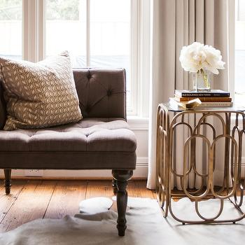 Brass Accent Table, Transitional, living room, Marie Flanigan Interiors