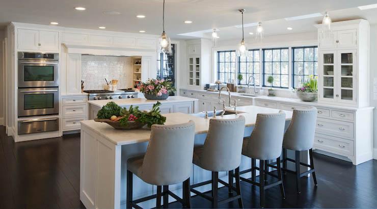 2 kitchen islands transitional kitchen crown point