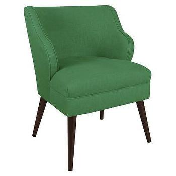 Seating - Skyline Accent Chair - Linen Island Green I Target - green linen accent chair, kelly green accent chair, mid century green chair, mid century modern chair,