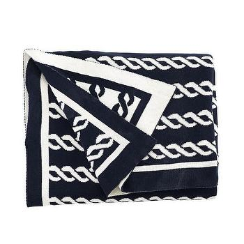 Decor/Accessories - Graphic Throw - Eternal Knot I Wisteria - black and white throw, black and white knot throw, eternal knot throw, black eternal knot throw,