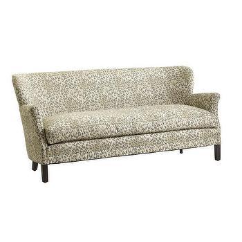 Seating - Gondola Sofa I Wisteria - leopard print sofa, animal print sofa, leopard print settee,