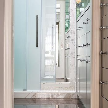 Frosted glass shower door contemporary bathroom - Bathroom vanity with frosted glass doors ...