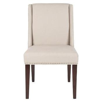 Seating - Safavieh Humphrey Dining Chair - Set of 2 I Target - linen dining chair with nailhead trim, linen side chair with nailhead trim, modern lining side chair, dining chair with nailhead trim,