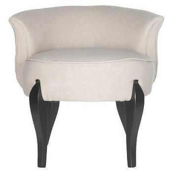 Seating - Safavieh Mora Vanity Stool - Taupe I Target - taupe vanity stool, cabriole leg vanity stool, linen vanity stool,